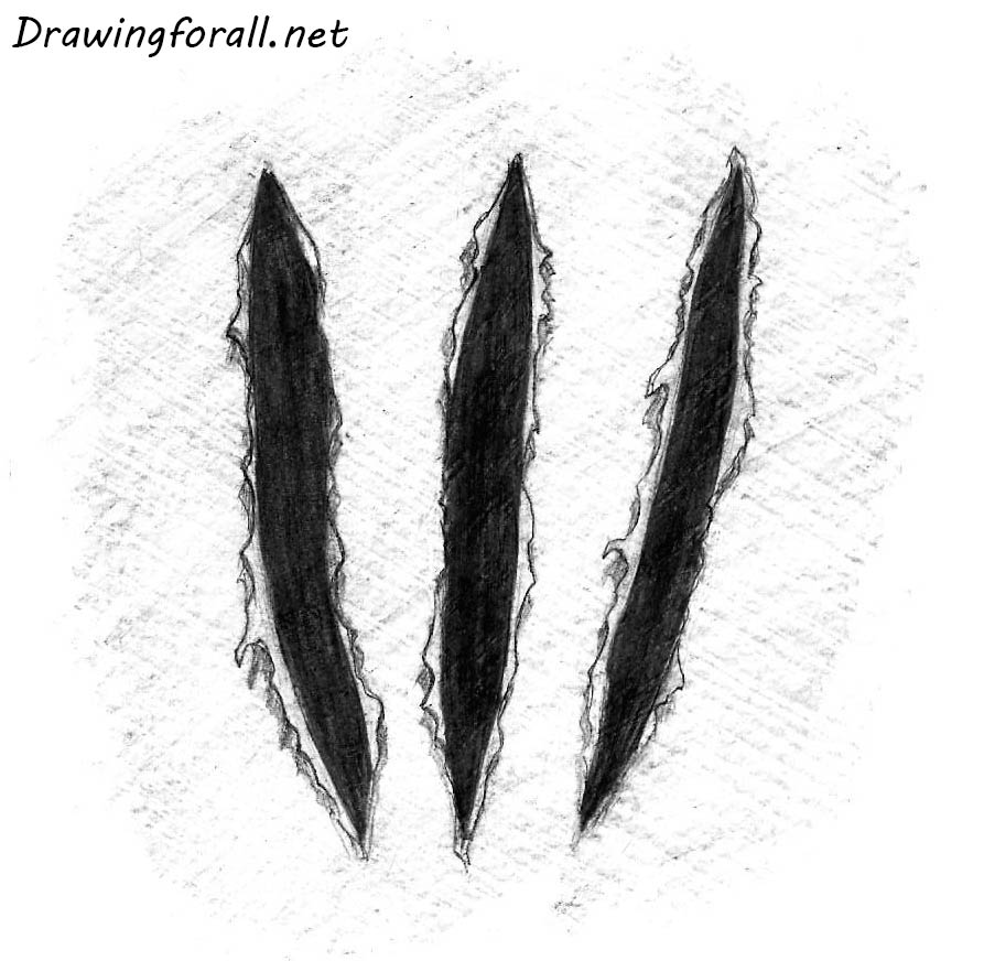 wolverine claw marks drawing