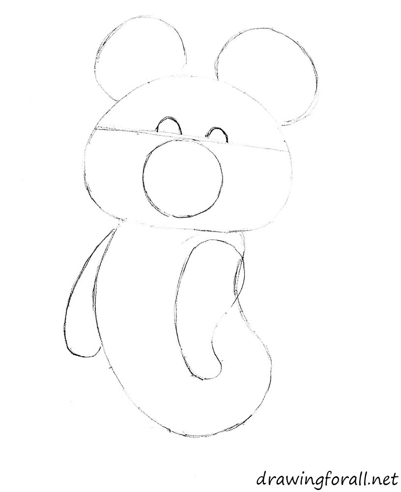 how to draw olympic bear