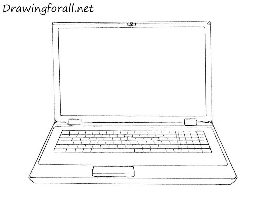 How to Draw a Laptop | DrawingForAll.net