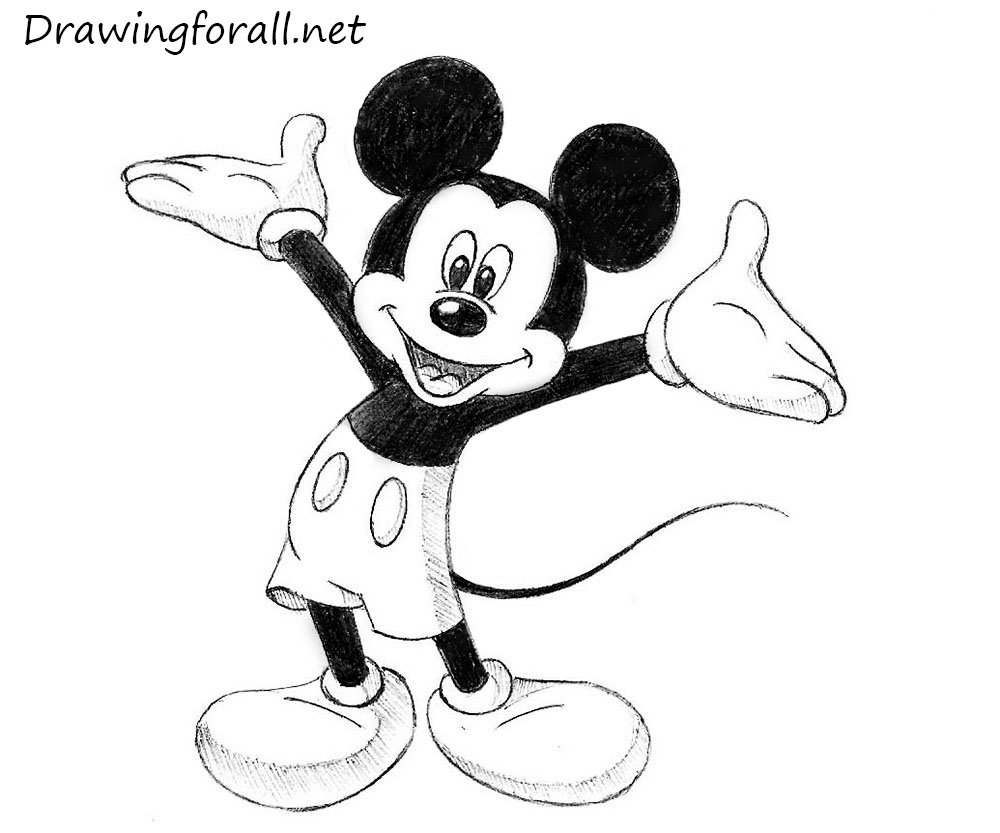 Mouse Outline Drawing How to Draw Mickey Mouse