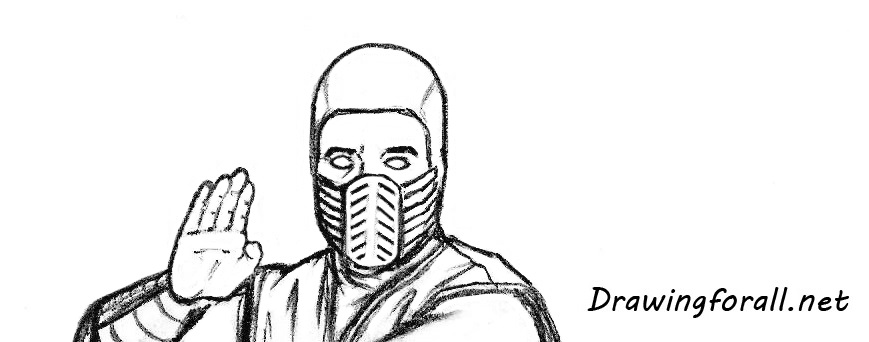 how to draw Scorpion face