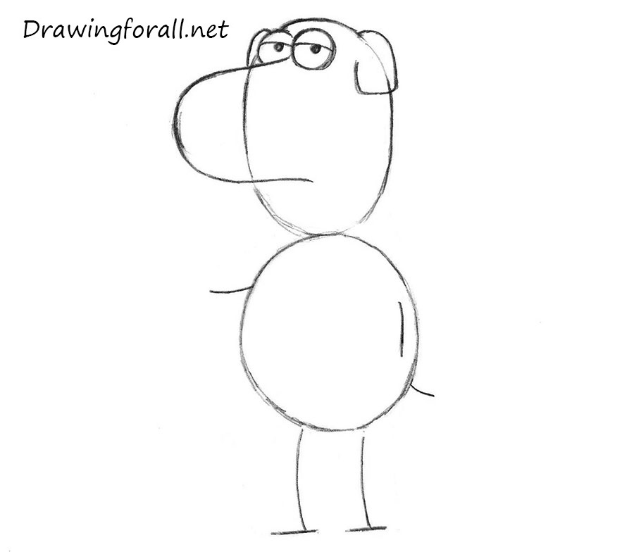 how to draw Brian griffin step by step