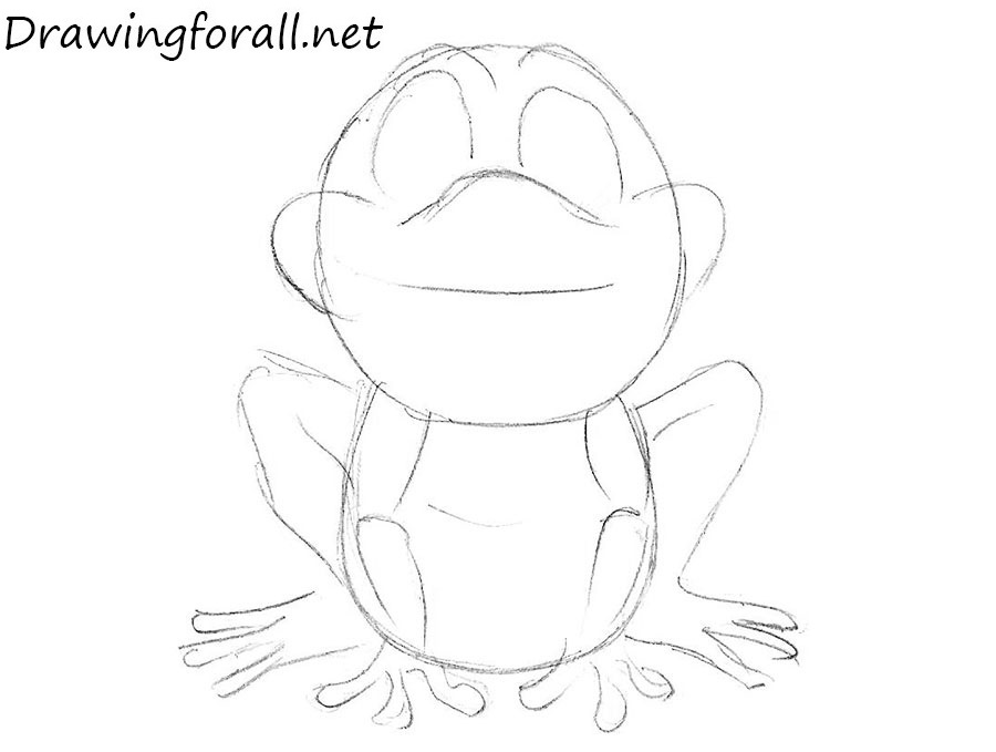 how to draw a frog for beginners