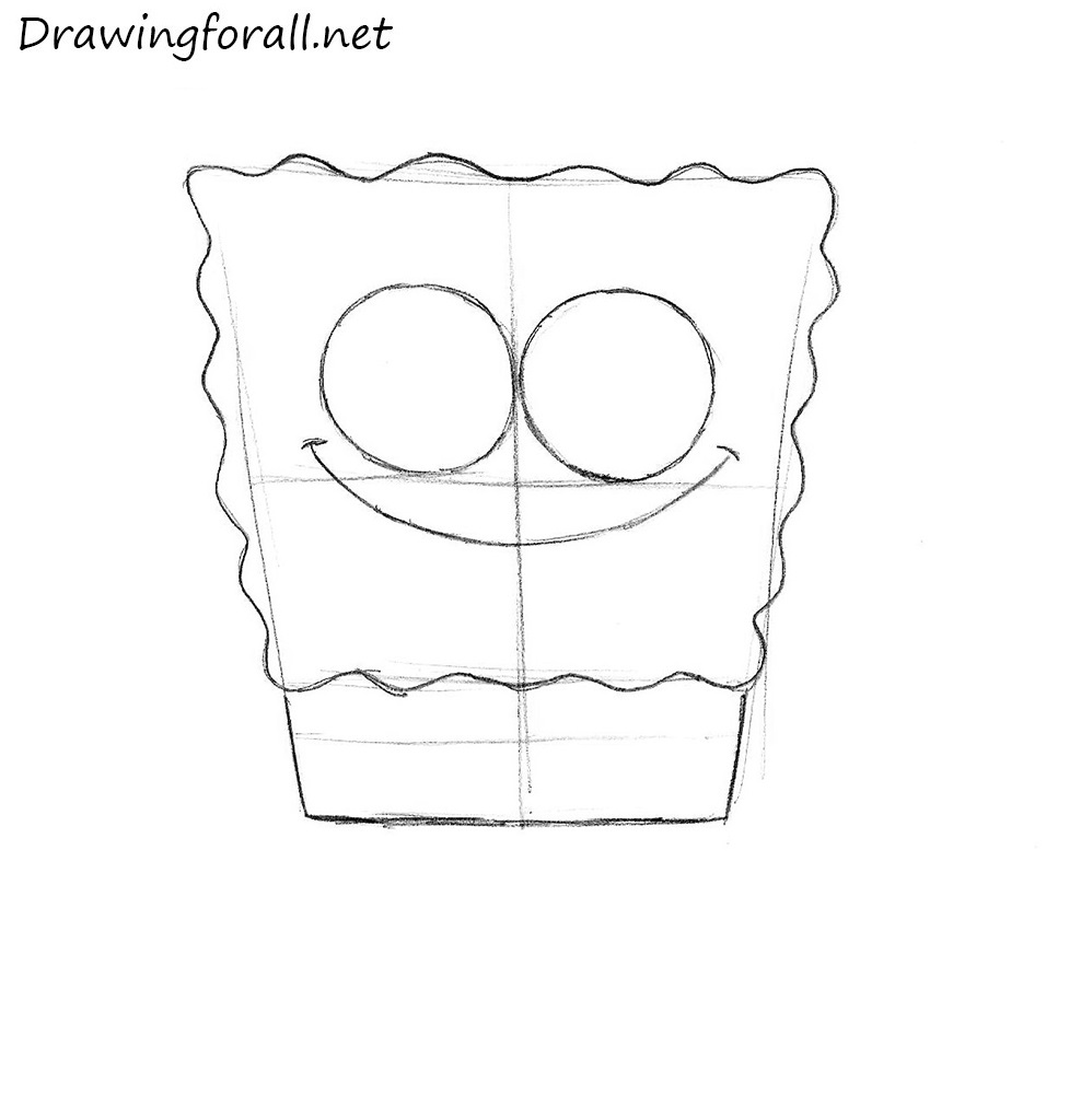 how to draw SpongeBob SquarePants step by step