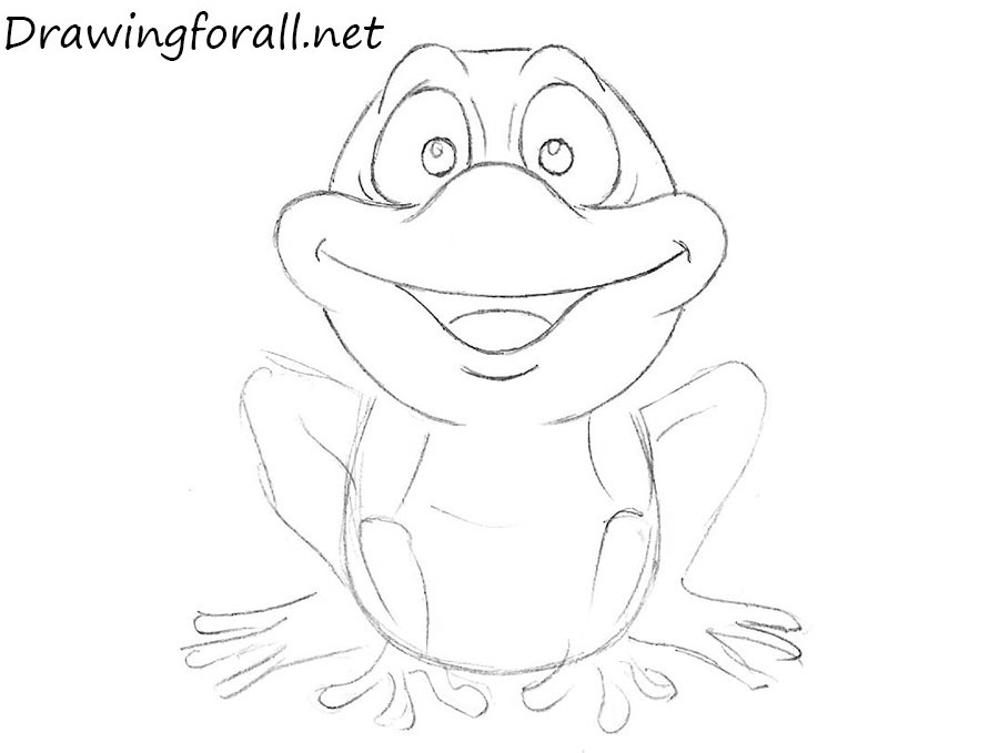 how to draw a frog for children