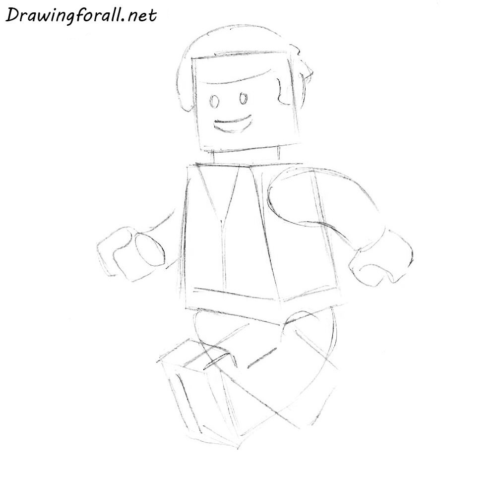 how to draw a lego man sith a pencil