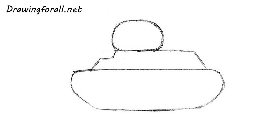 how to draw a tank for amateur artists