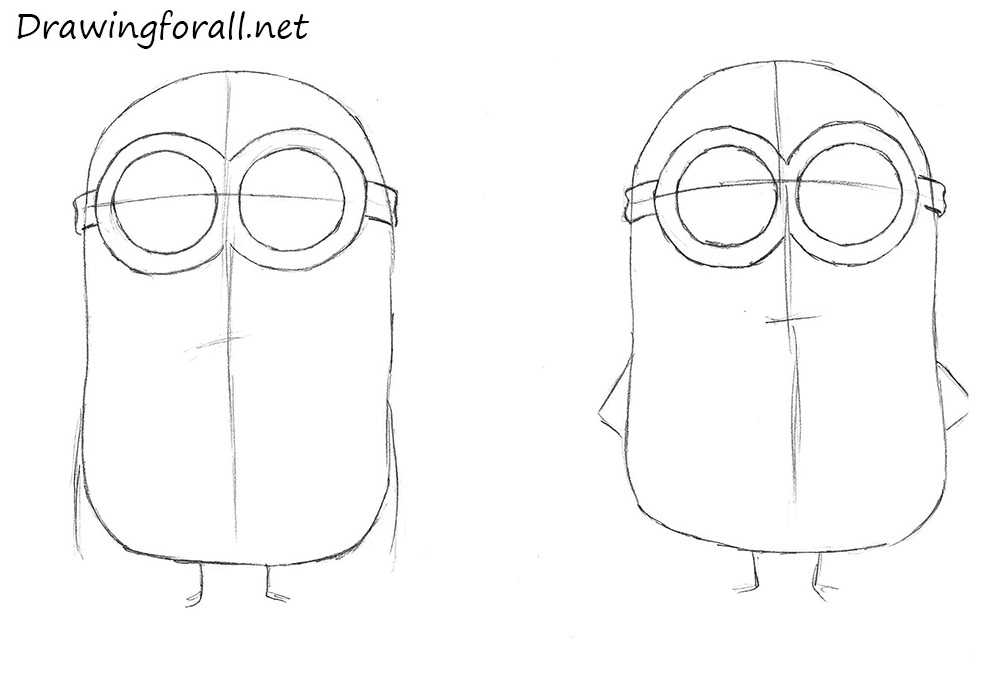 how to draw minions with a pencil