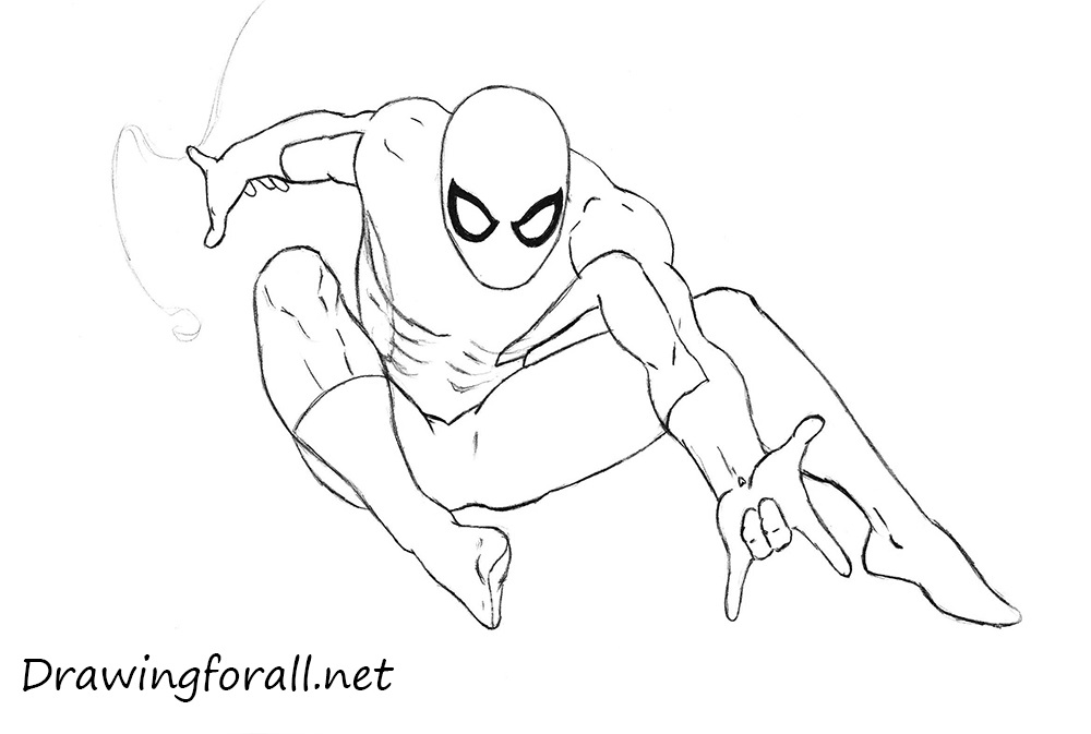 Spiderman Hand Drawing How to Draw Spider Man Step by