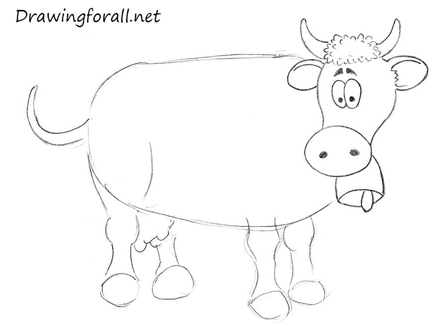 how to draw a cow for beginners