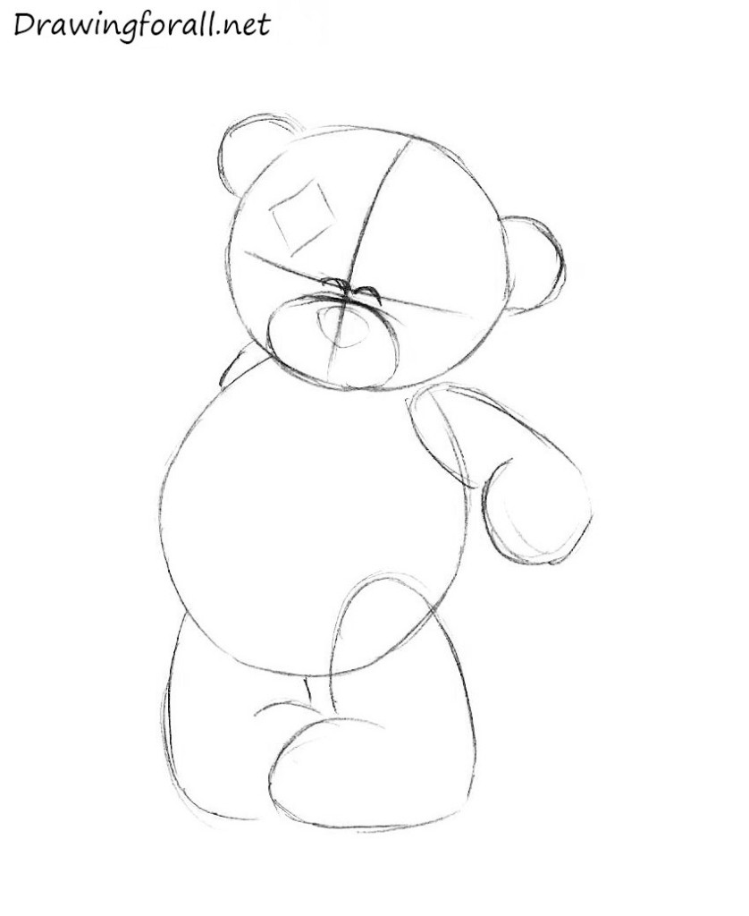Uncategorized Drawing Of Teddy Bears how to draw a teddy bear drawingforall net step by step