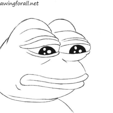 How to Draw Sad Frog
