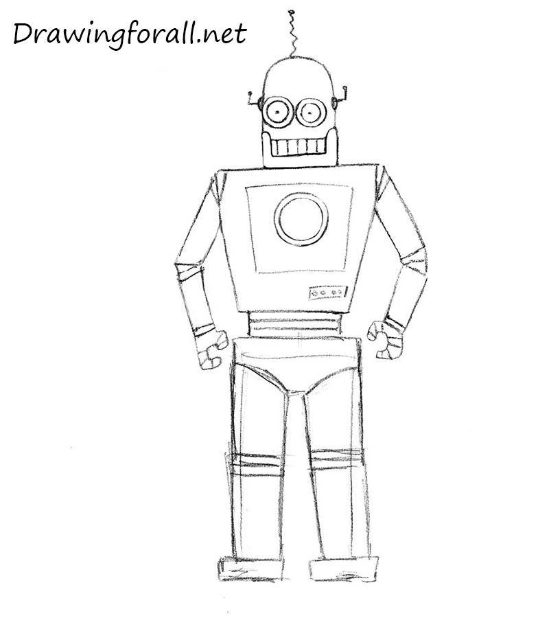 How To Draw A Robot For Kids