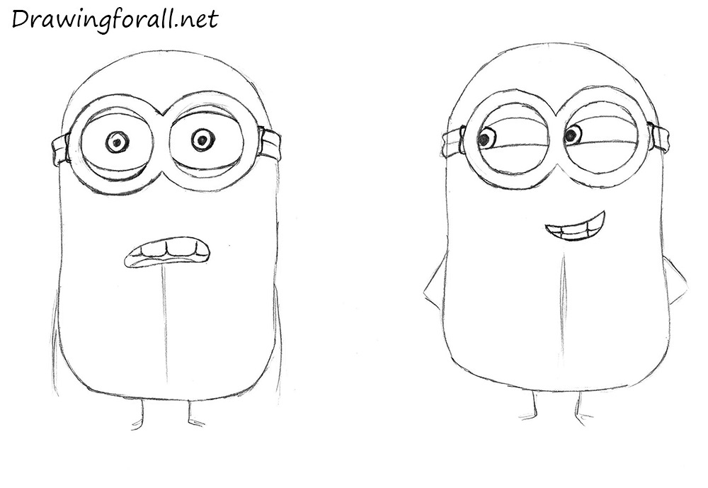 how to draw minions from despicable me