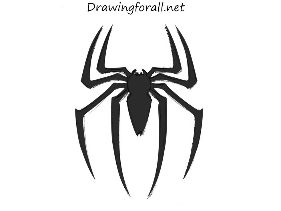 drawing spider man logo