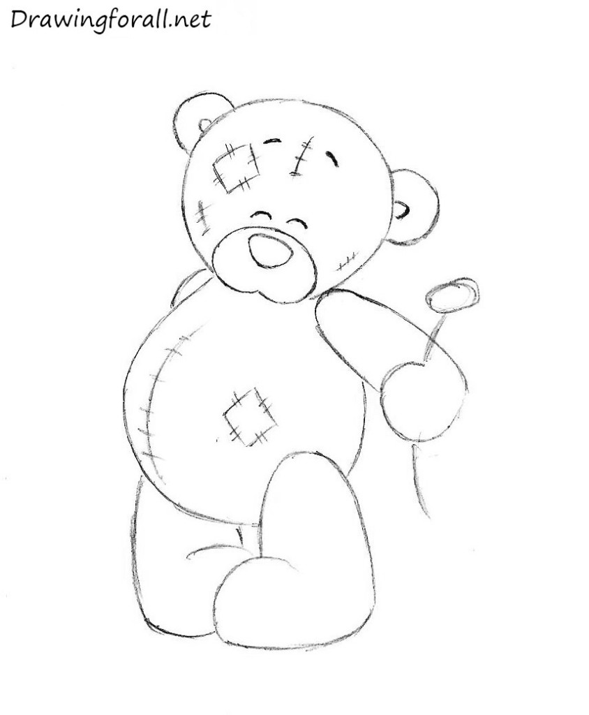 How to draw a teddy bear drawingforall how to draw a teddy bear altavistaventures Image collections