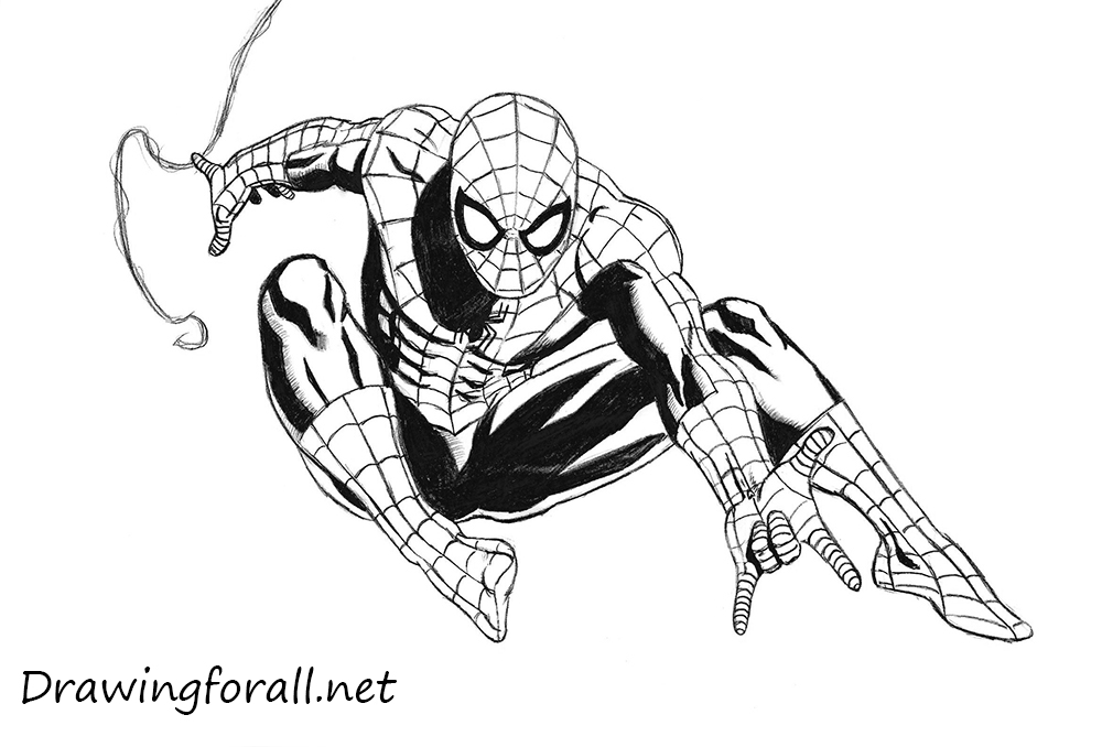 how to draw the amazing spider man