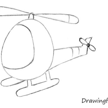 How to Draw a Helicopter for Kids