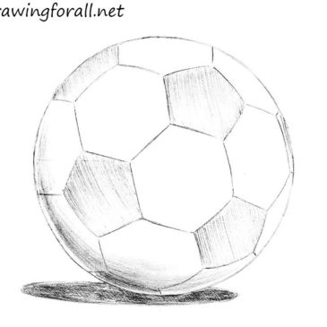 how to draw a soccer ball for beginners