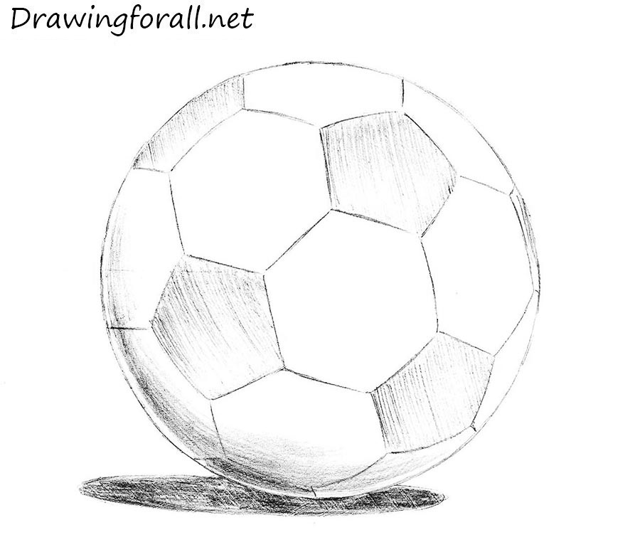 drawing soccer ball