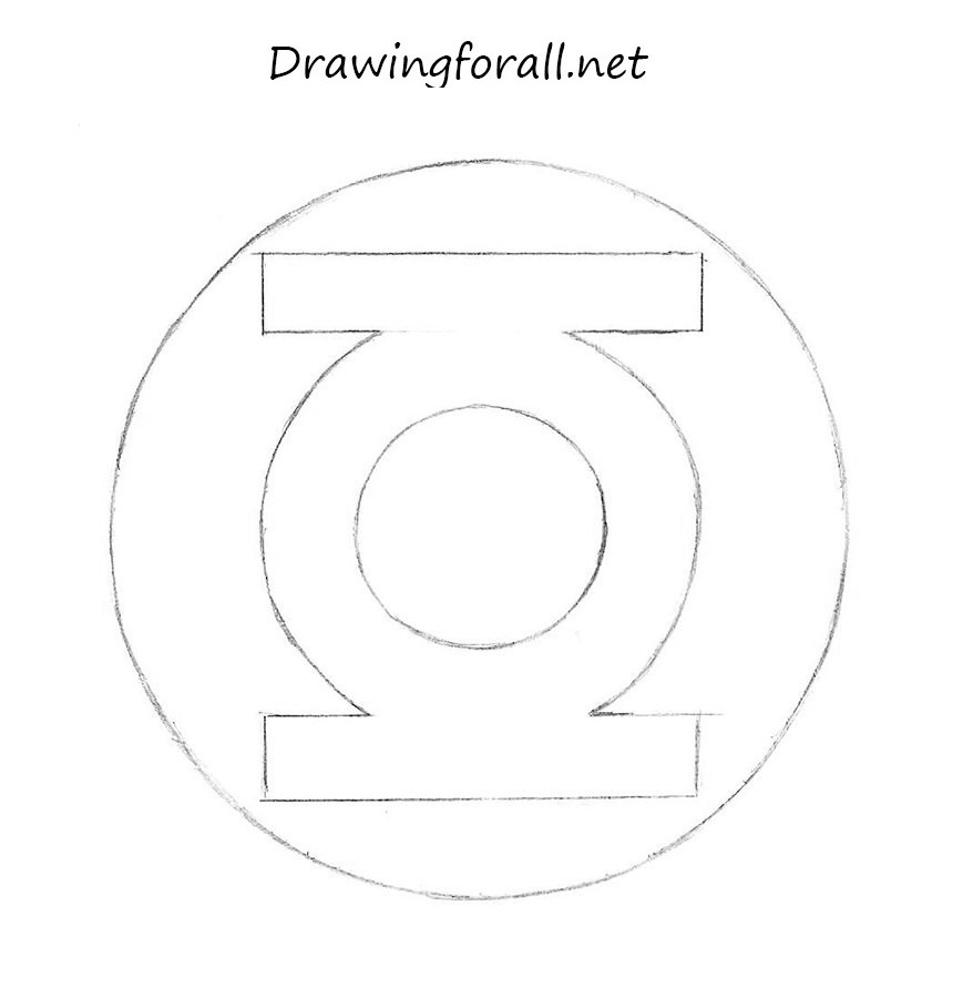 how to drawGreen Lantern logo