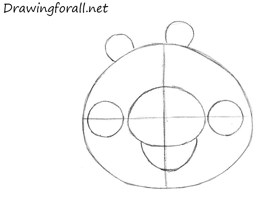 how to draw pig from angry birds