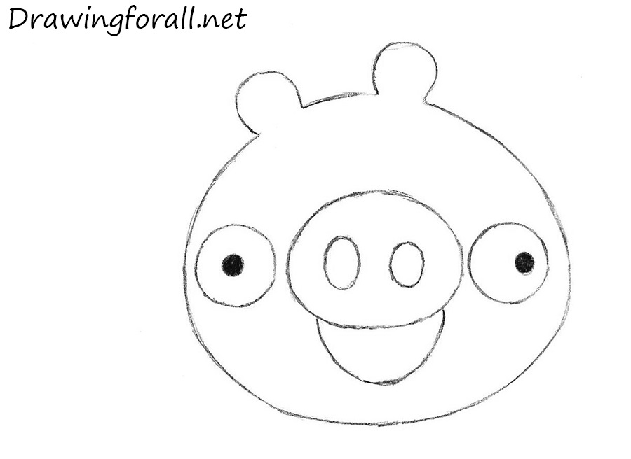 Angry birds drawing templates for Angry bird pig template