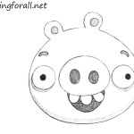 How to Draw Green Pig from Angry Birds