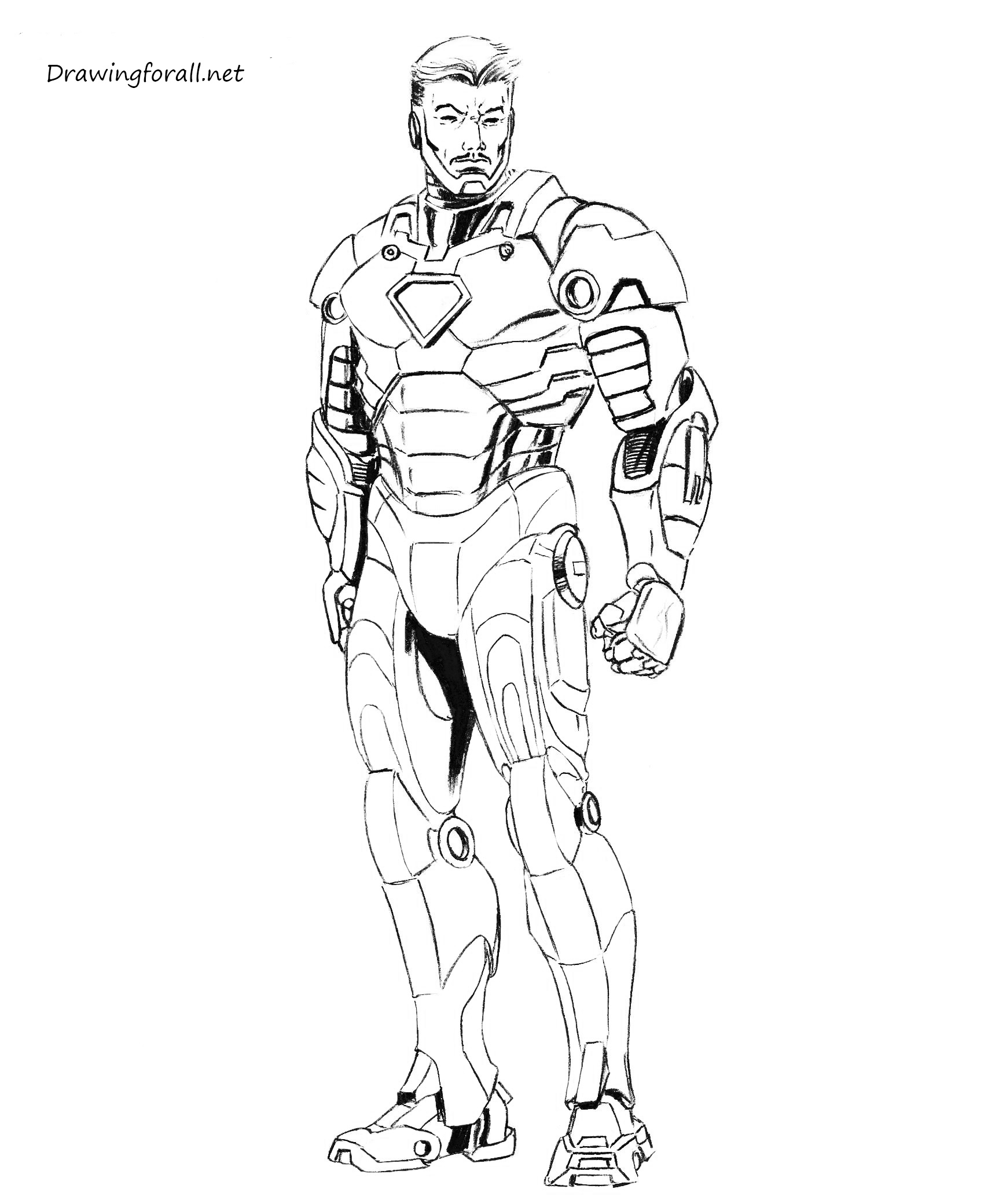 How to draw iron man