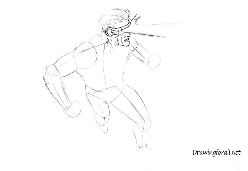 How to draw X man Cyclops