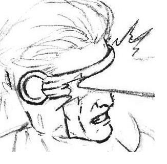 How to draw X man Cyclops