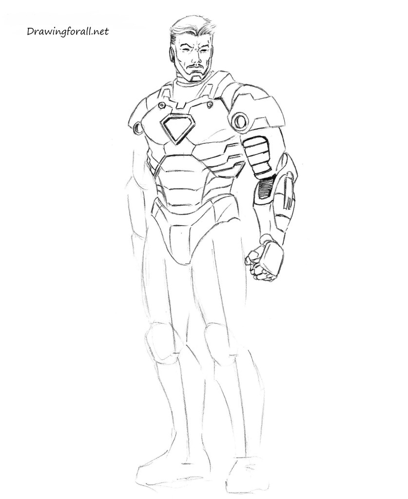 drawing iron man