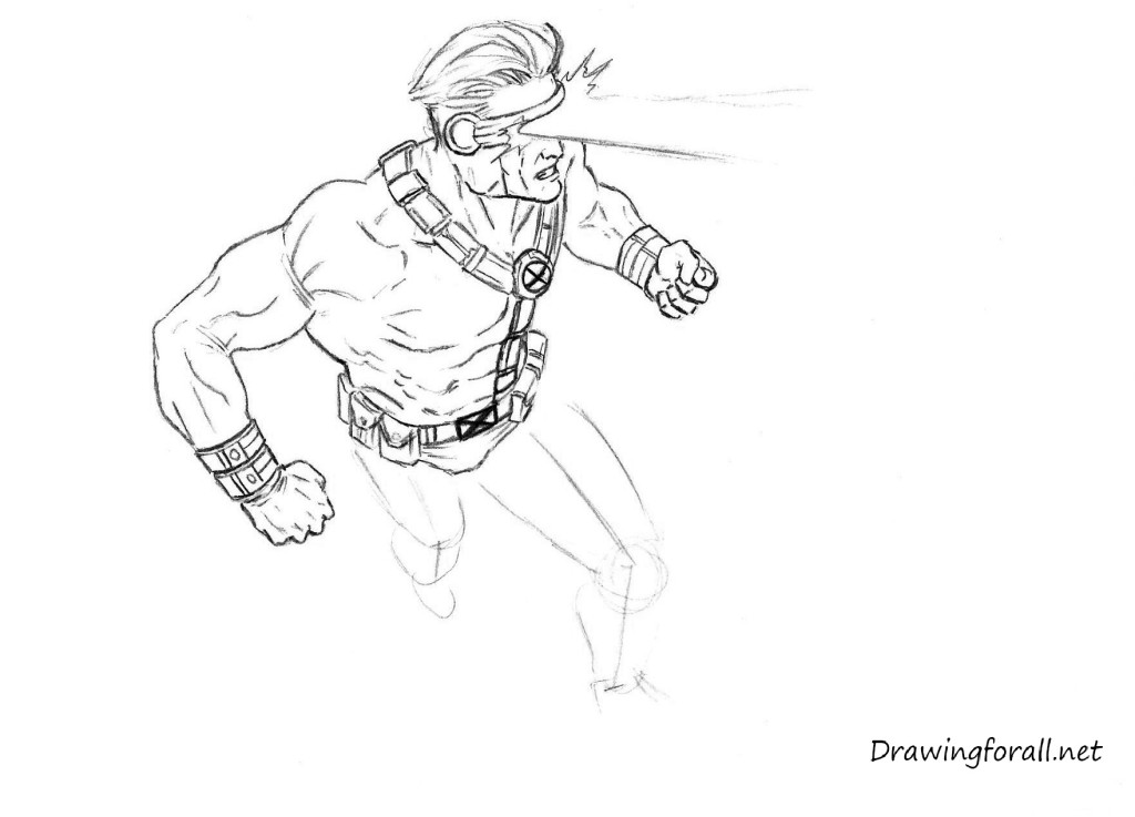 how 2 draw cyclops from X-Men
