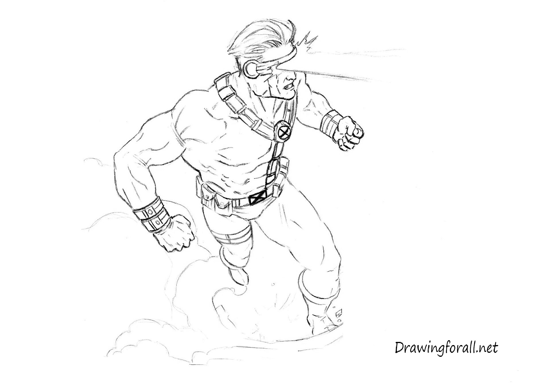 how to draw cyclops from x men drawingforall net