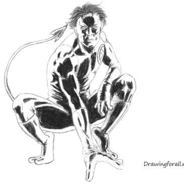 How to draw Nightcrawler step by step