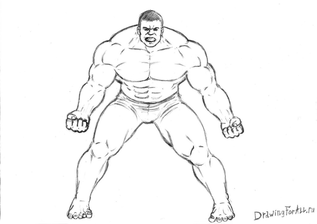 How to draw the Hulk from Avengers