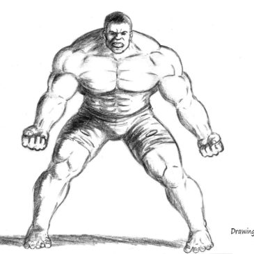 How to draw the Incredible Hulk