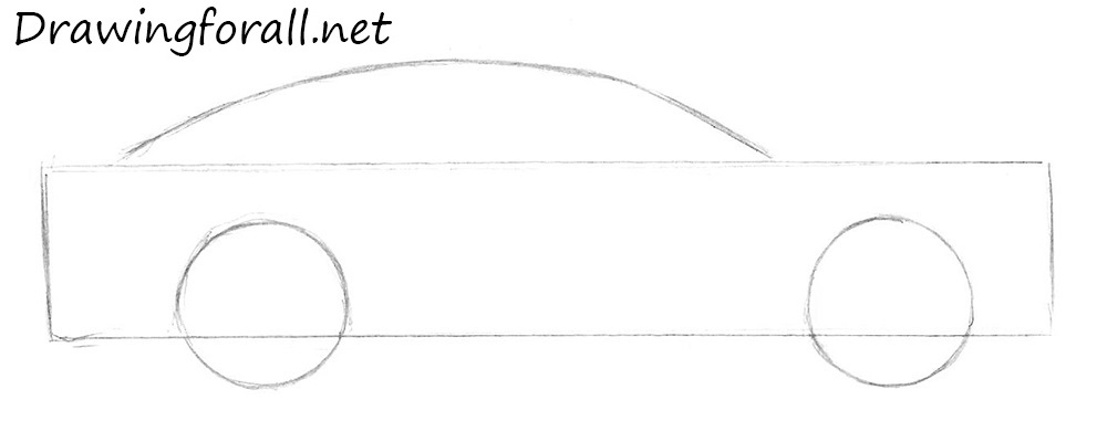 how to draw a car for beginners