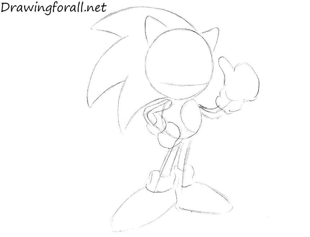 How to Draw Sonic the Hedgehog step by step