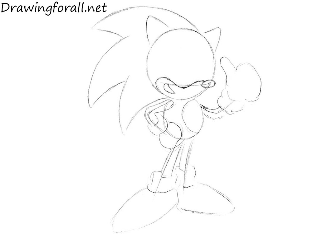 How to Draw Sonic for beginners