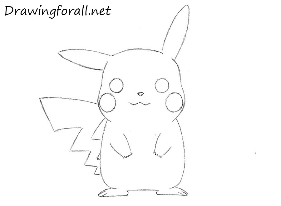 Zigzag Line Drawing : How to draw pikachu from pokemon drawingforall