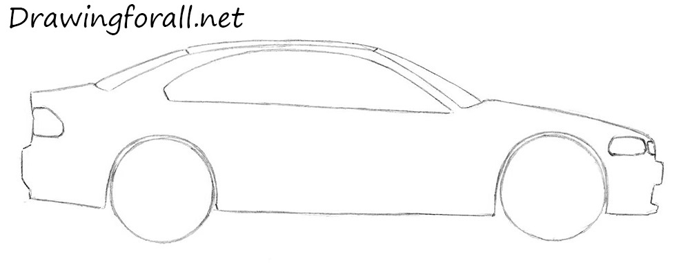 How to Draw a Car for Beginners | DrawingForAll.net