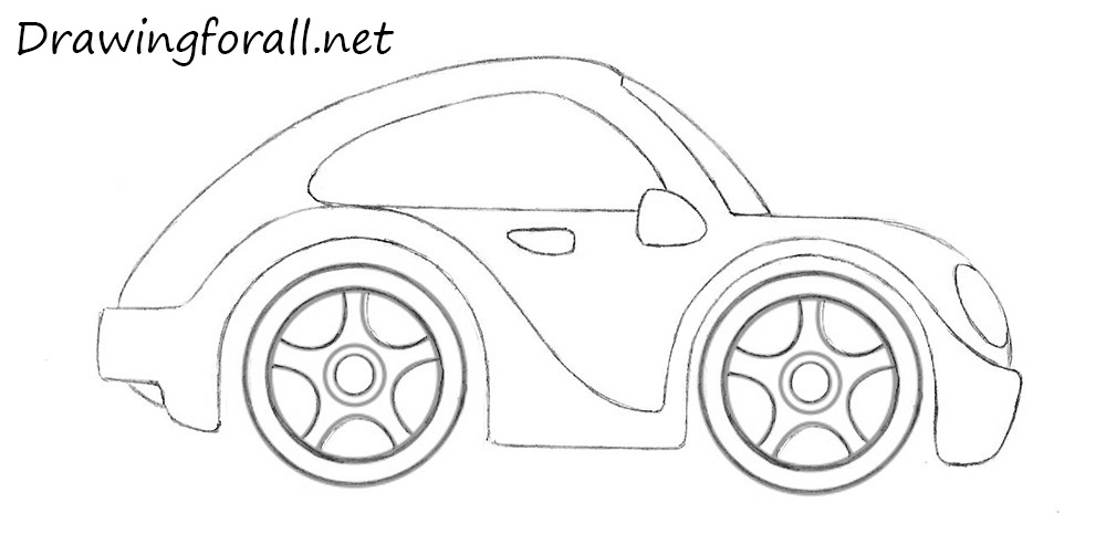 easy cartoon cars front view