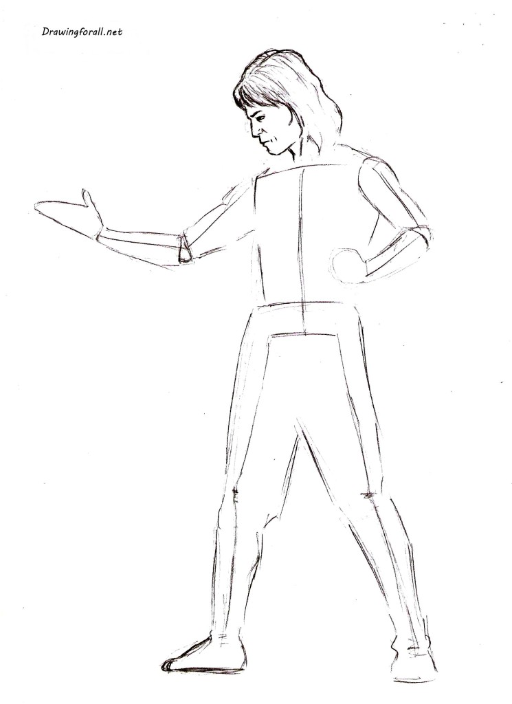 How to draw Liu Kang  step_by_step