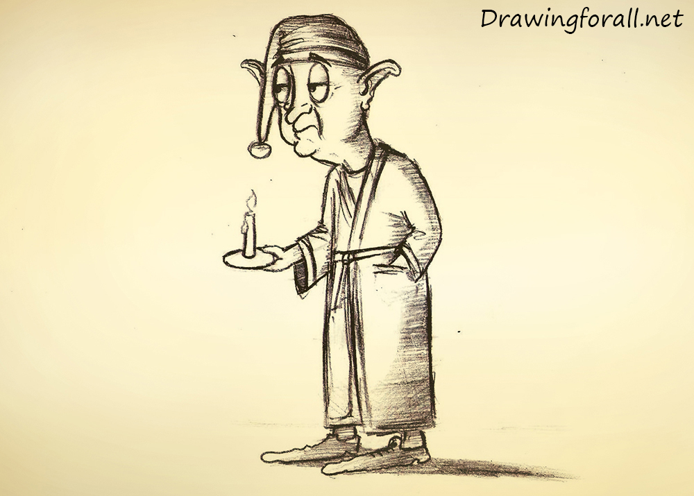 how to draw an old halfling