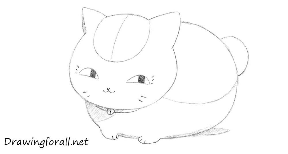 how to draw Maneki Neko from Natsume's Book of Friends
