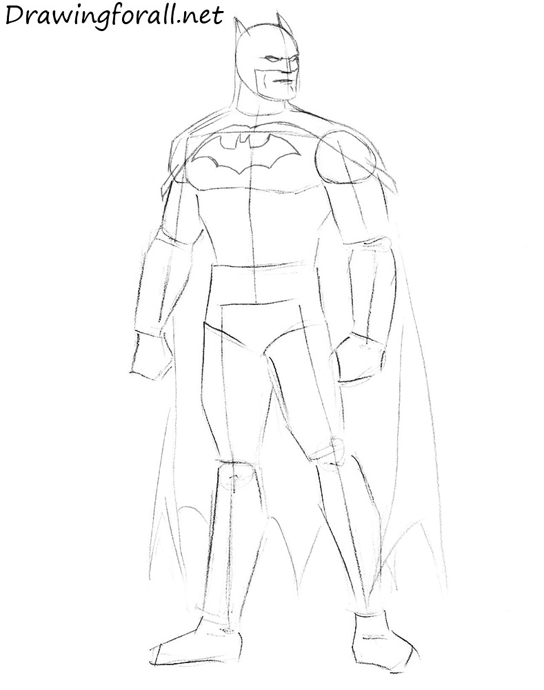 how to draw batman for beginners