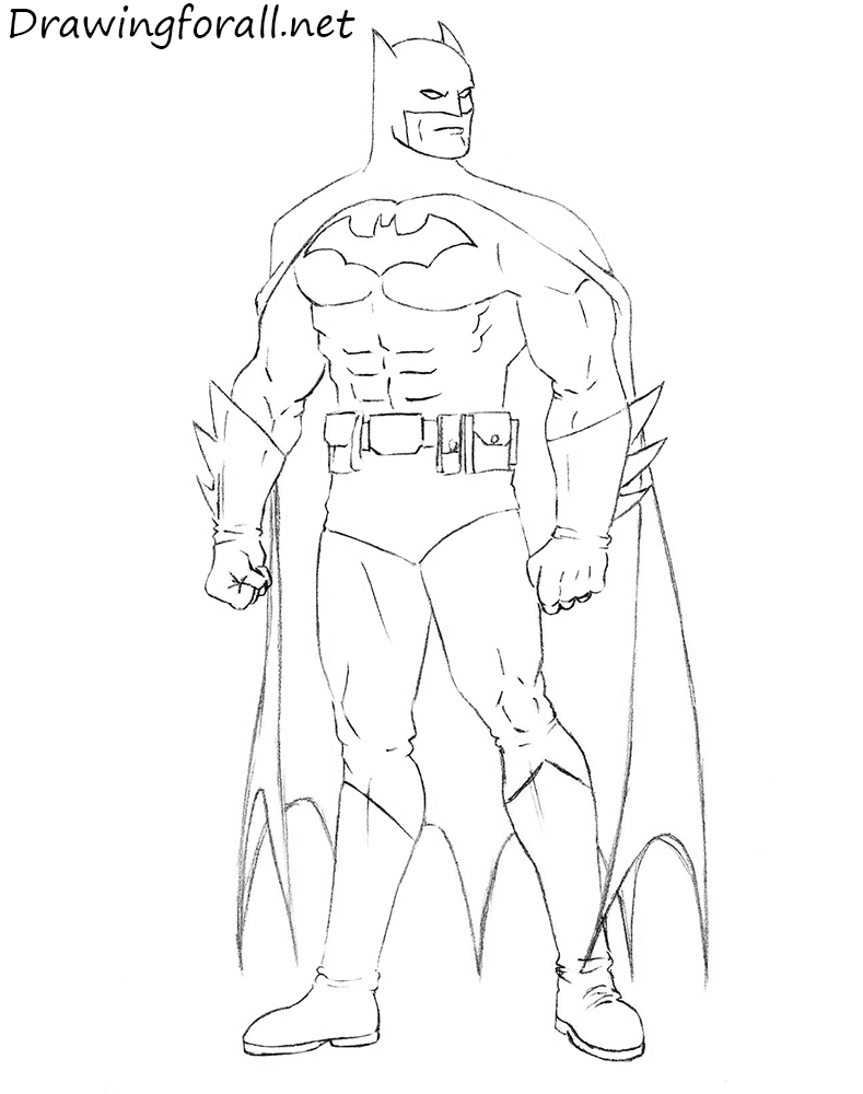 How To Draw Batman Step By Step Drawingforall Net