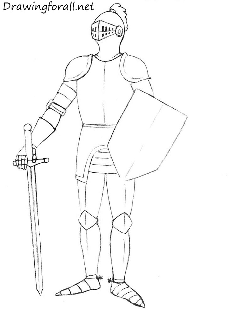 How To Draw A Knight For Beginners Drawingforall Net