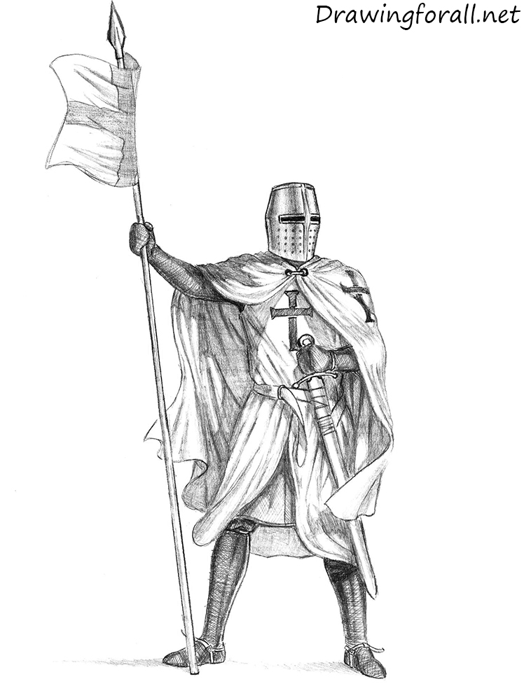 How To Draw A Knight | DrawingForAll.net